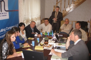Discussion at AM Partners office (Yerevan, 11.10.2010)
