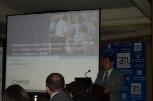 Second presentation of the survey results (20.06.2011). Vahe Mambreyan's opening speech