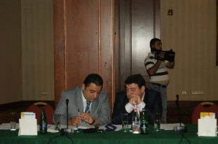 Vahe Mambreyan (AM Partners) and Aram Ananyan (Assistant to the Prime Minister) (Yerevan, 20.06.2011)