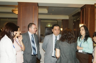 AM Partners and PALM Project teams are discussing the presentation of the survey results (Yerevan, 20.06.2011.)
