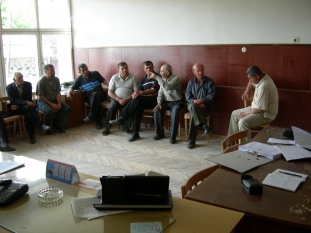 KSFA members from Davit Bek village discussing their socio-economic problems (28.05.2007)