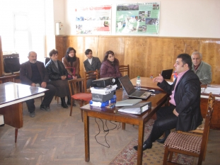 Project kick-off meeting and discussion in Sevkar Village (Tavush Region, 24.11.2009)