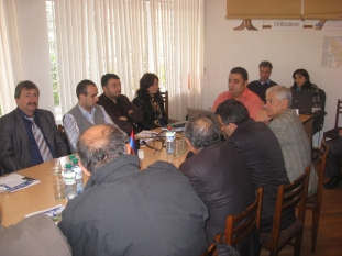 Project kick-off meeting and discussion in Kapan (16.11.2009)