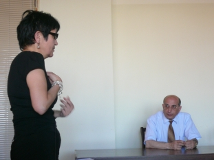 Anahit Safyan (Head of International Statistical Cooperation Division in NSS) and Stepan Mnatsakanyan (Head of NSS) (Yerevan, 25.06.2010)