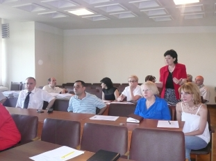 Managers of NSS divisions are discussing the  Action Plan of the National Statistical Master Plan (Yerevan, 25.06.2010)
