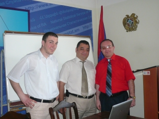 Authors of the National Statistical Master Plan - Narek Sahakyan, Vahe Mambreyan and Vardan Aghbalyan