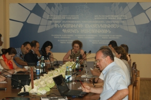 Public awareness discussion on food safety social survey in SSFS office (Yerevan, 17.07.2015.)